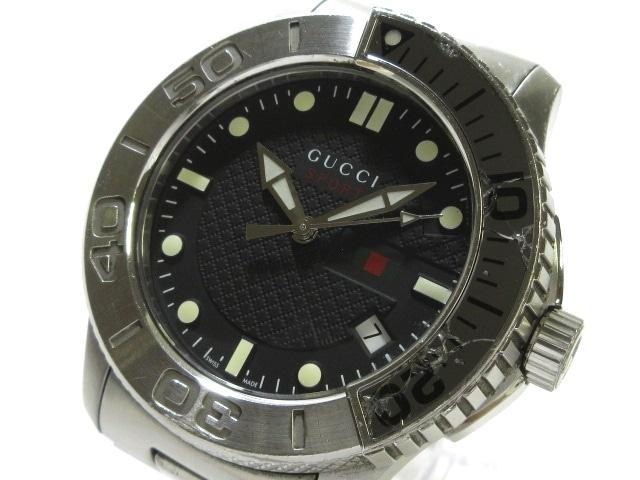 super popular 16746 f8d2d GUCCI(グッチ) 腕時計 G-タイムレススポーツ 126.2 メンズ SS 黒