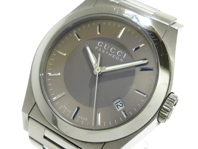 96e6f4532e03 GUCCI(グッチ) 腕時計 パンテオン 115.4/YA115424 メンズ ベージュ ...