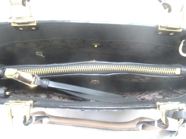 a876b1e11ebe コーチ トートバッグ - 32369 ベージュ×黒 パイソン型押し加工(12605474 ...