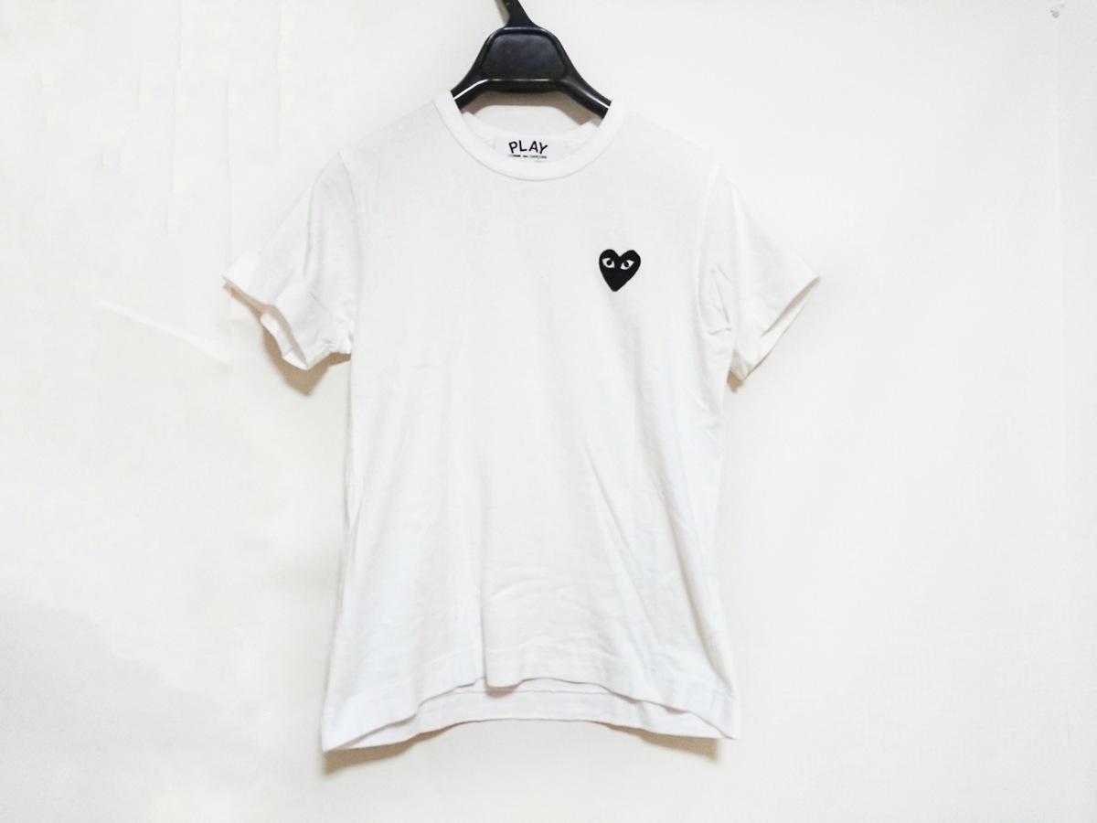 PLAY COMMEdesGARCONS(プレイコムデギャルソン)のTシャツ 白×黒