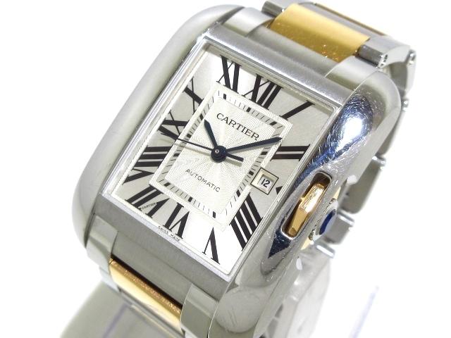 カルティエ タンクアングレーズMM 腕時計