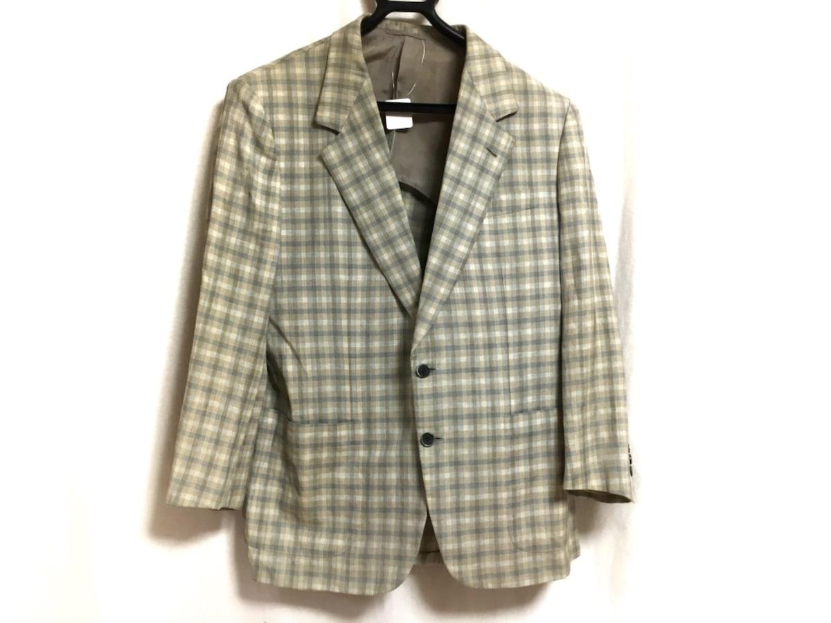 Brioni(ブリオーニ)のジャケット ベージュ×ライトブルー×グレー