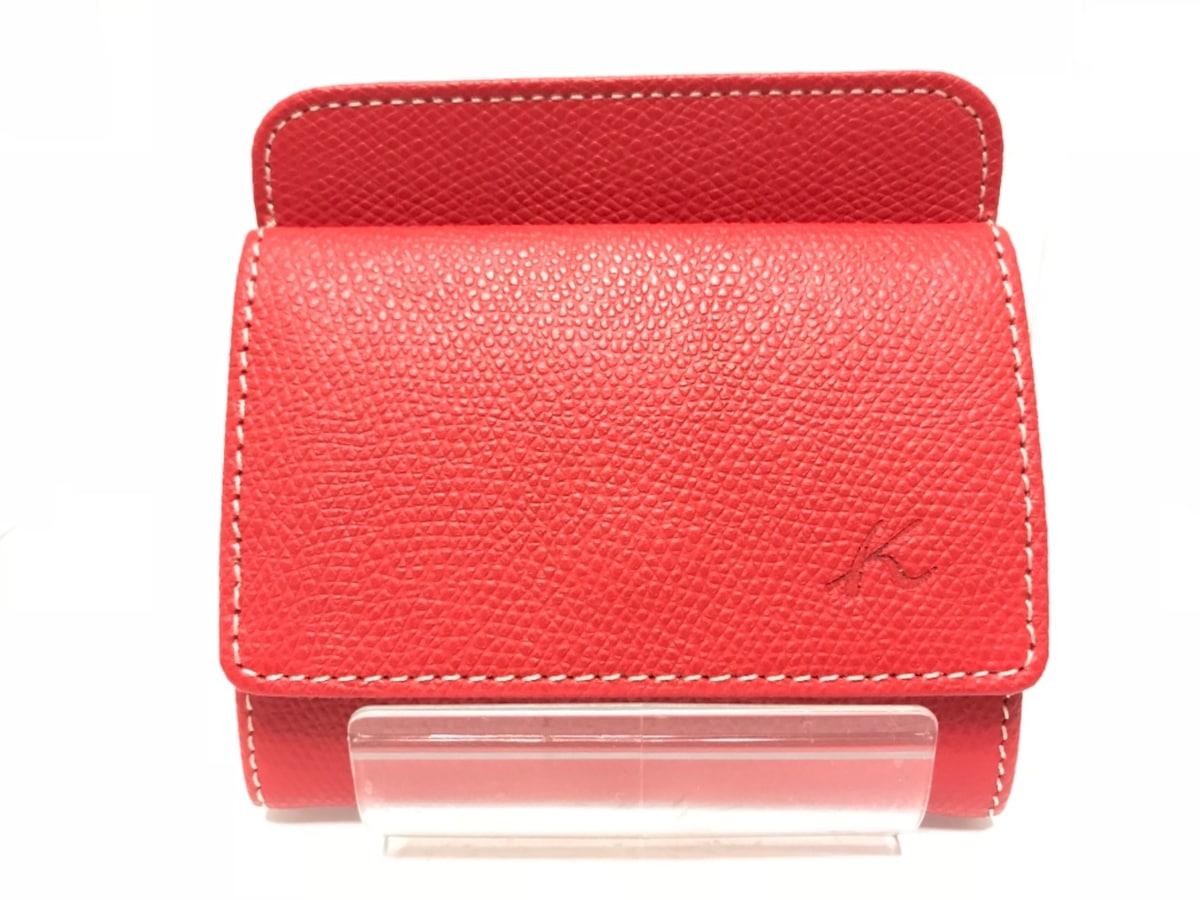 c78291111b7c KITAMURA(キタムラ) 財布美品 レッド レザー(12793127)中古|ブランド ...