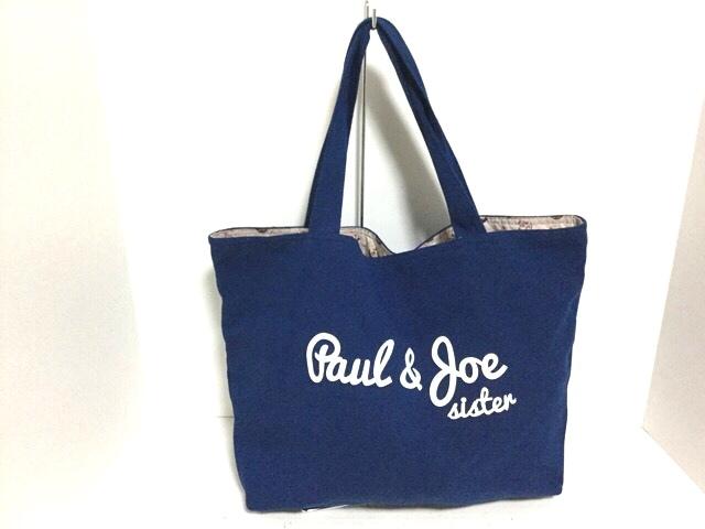 7d01e77e2aa4 Paul&Joe(ポール&ジョー) トートバッグ ブルー キャンバス(12675276 ...