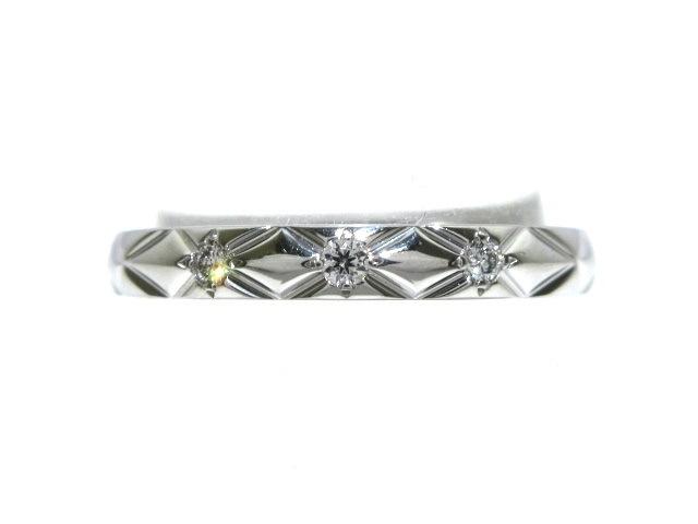 b528489f2ab7 CHANEL(シャネル) リング 49美品 マトラッセ Pt950×ダイヤモンド ...