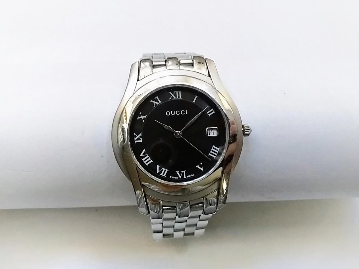 bd3a69d50f80 GUCCI(グッチ) 腕時計 5500M メンズ 黒(12695320)中古 ブランド通販 ...