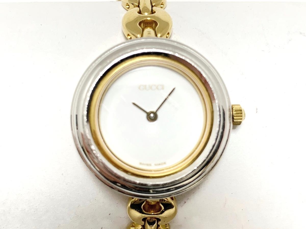 9954368ac523 GUCCI(グッチ) 腕時計美品 ベゼルウォッチ 11/12.2 レディース 白 ...