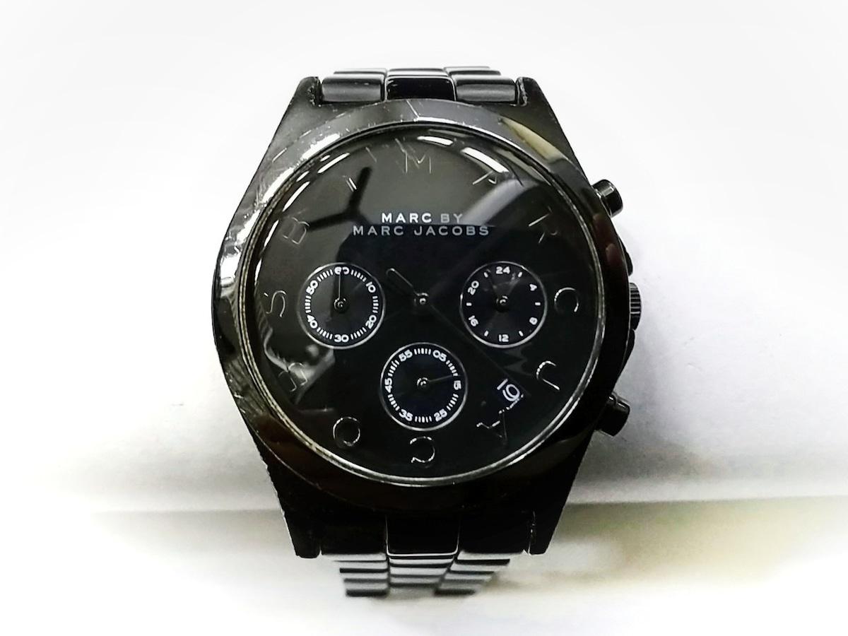 meet 0bba0 6487d マークジェイコブス 腕時計 MBM3524 メンズ クロノグラフ 黒