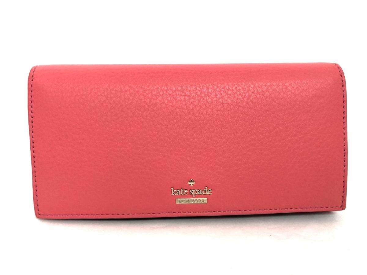 599d1865ff35 ケイトスペード 長財布美品 PWRU6197 ピンク 内側花柄 レザー(12744303 ...