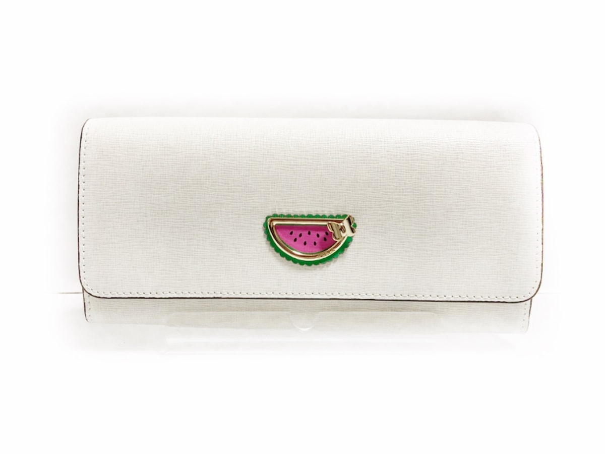 dd929a46602e フルラ 長財布美品 942633 白×ピンク×グリーン スイカ レザー(12749174 ...