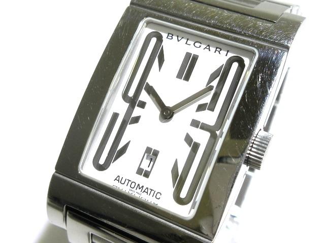 100% authentic 57da2 abb82 BVLGARI(ブルガリ) 腕時計 レッタンゴロ RT45S メンズ 白