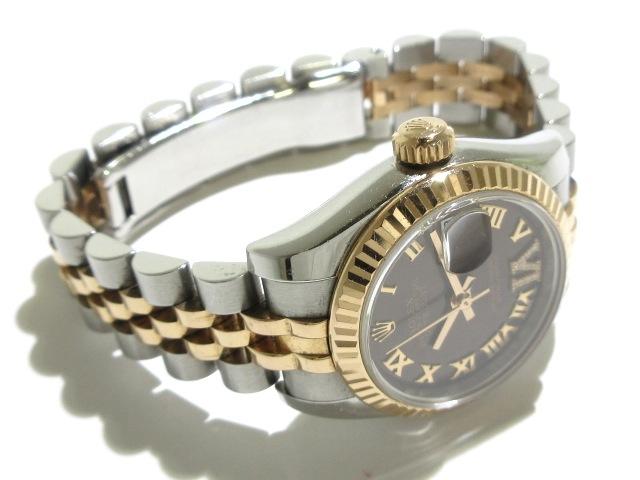 info for cb5c9 7574b ロレックス 腕時計 デイトジャスト 179171 レディース ブラウン