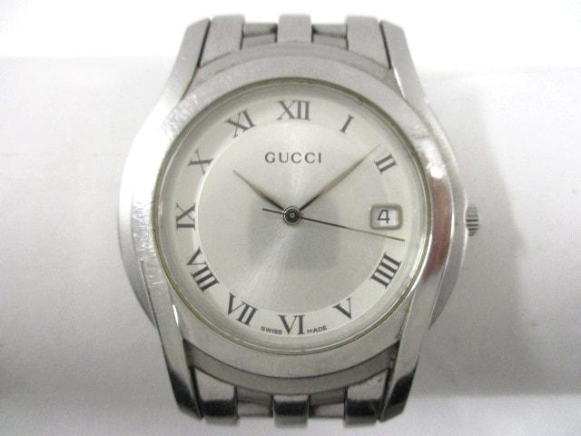 3047b0576686 GUCCI(グッチ) 腕時計 5500M メンズ シルバー(12776404)中古 ブランド ...