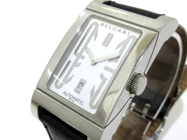 huge sale f7c51 d4a1e BVLGARI(ブルガリ) 腕時計 レッタンゴロ RT45S レディース 白