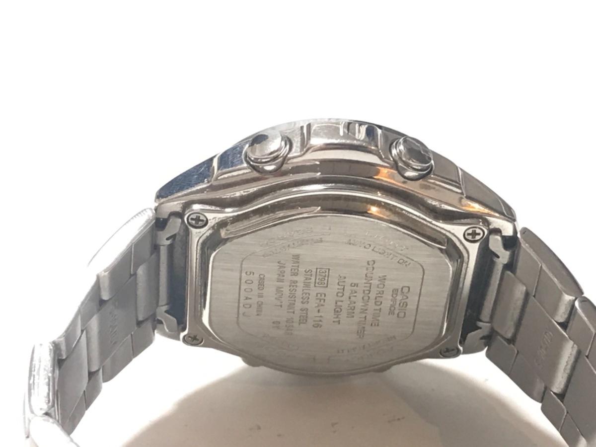 eec3ddedc1 ... CASIO(カシオ) 腕時計 エディフィス EFA-116 メンズ クロノグラフ 黒 4 ...
