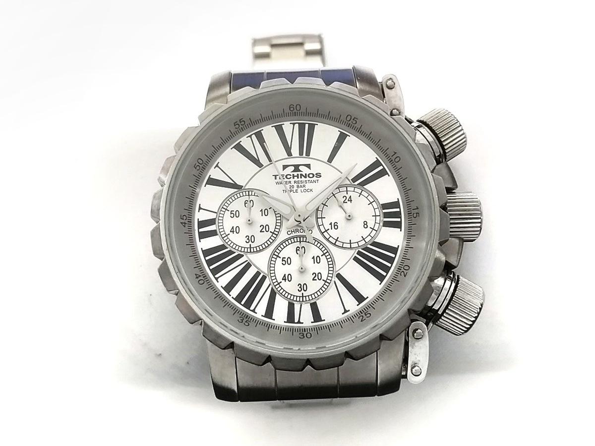 155c60cc3fe7 TECHNOS(テクノス) 腕時計 TGM688 メンズ クロノグラフ シルバー ...