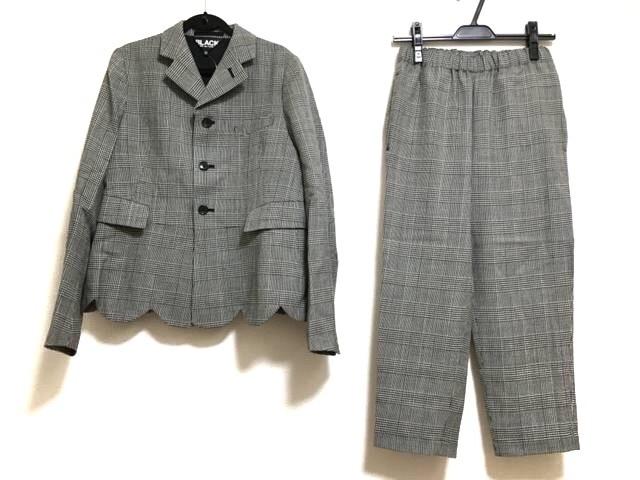 BLACK COMMEdesGARCONS(ブラックコムデギャルソン)のレディースパンツスーツ 白×黒