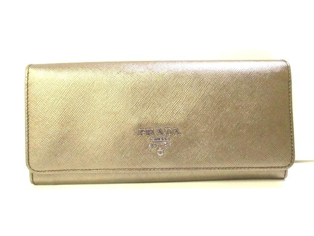 purchase cheap 3944c 73659 PRADA(プラダ) 長財布美品 - ゴールド レザー