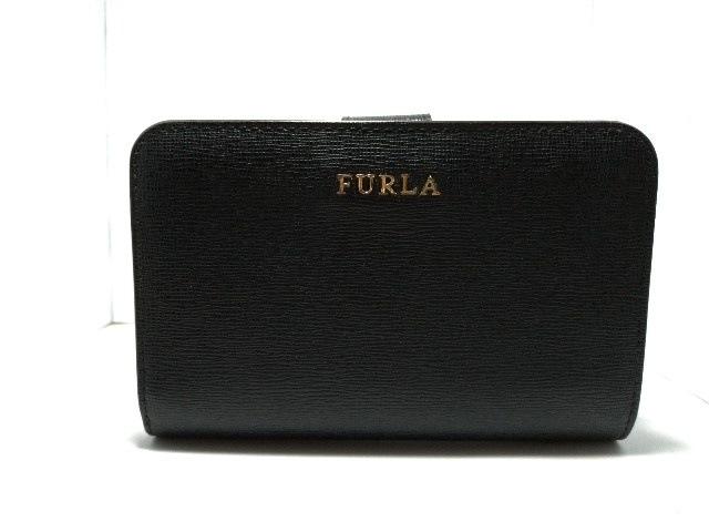 76218614c0bf FURLA(フルラ) 2つ折り財布美品 黒 L字ファスナー レザー(12822695 ...