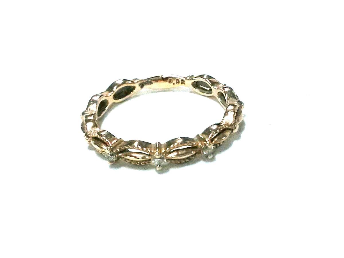 agete(アガット)のリング K10×ダイヤモンド