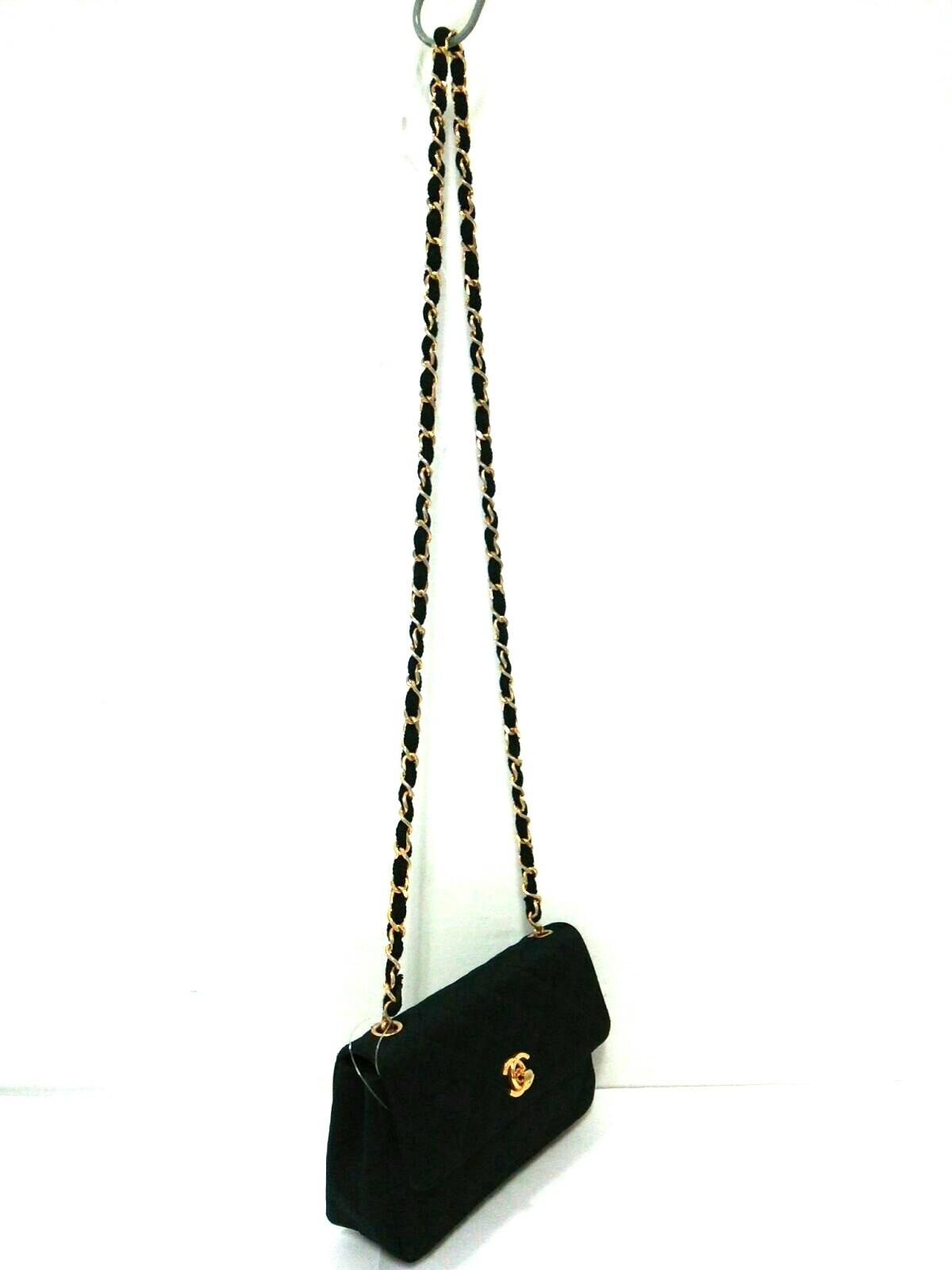 b2c2782579b1 CHANEL(シャネル) ショルダーバッグ美品 マトラッセ 黒 サテン(12838284 ...