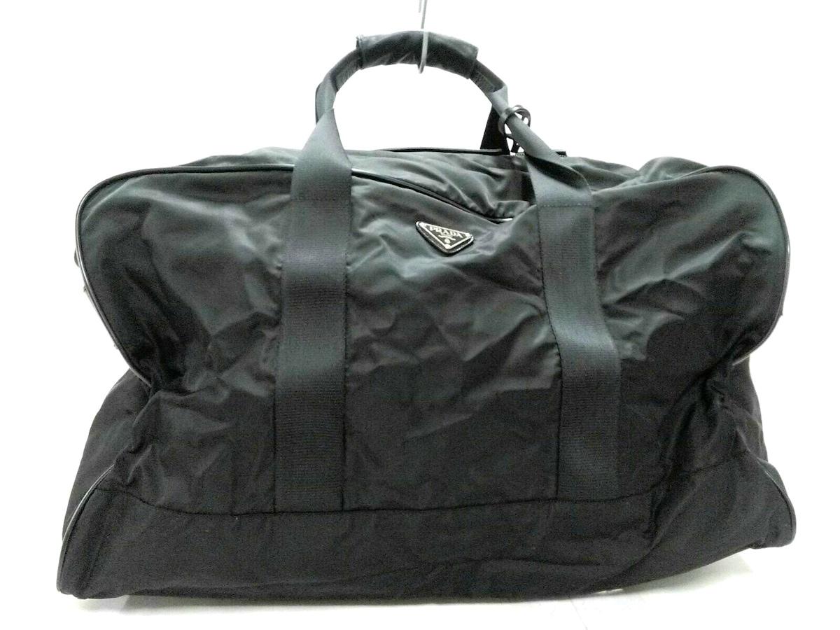 7d76fa67f8c5 PRADA(プラダ) ボストンバッグ美品 - V60 黒 ナイロン×レザー(12898105 ...