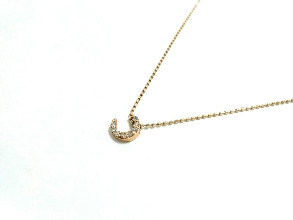 agete(アガット)のネックレス K10×ダイヤモンド
