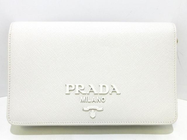 various colors 8c659 8af9a PRADA(プラダ) 財布 - 白 チェーンウォレット レザー