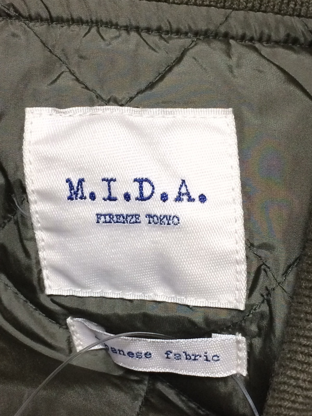 M.I.D.A.(ミダ)のダウンパディング・ハリントン・ジャケット