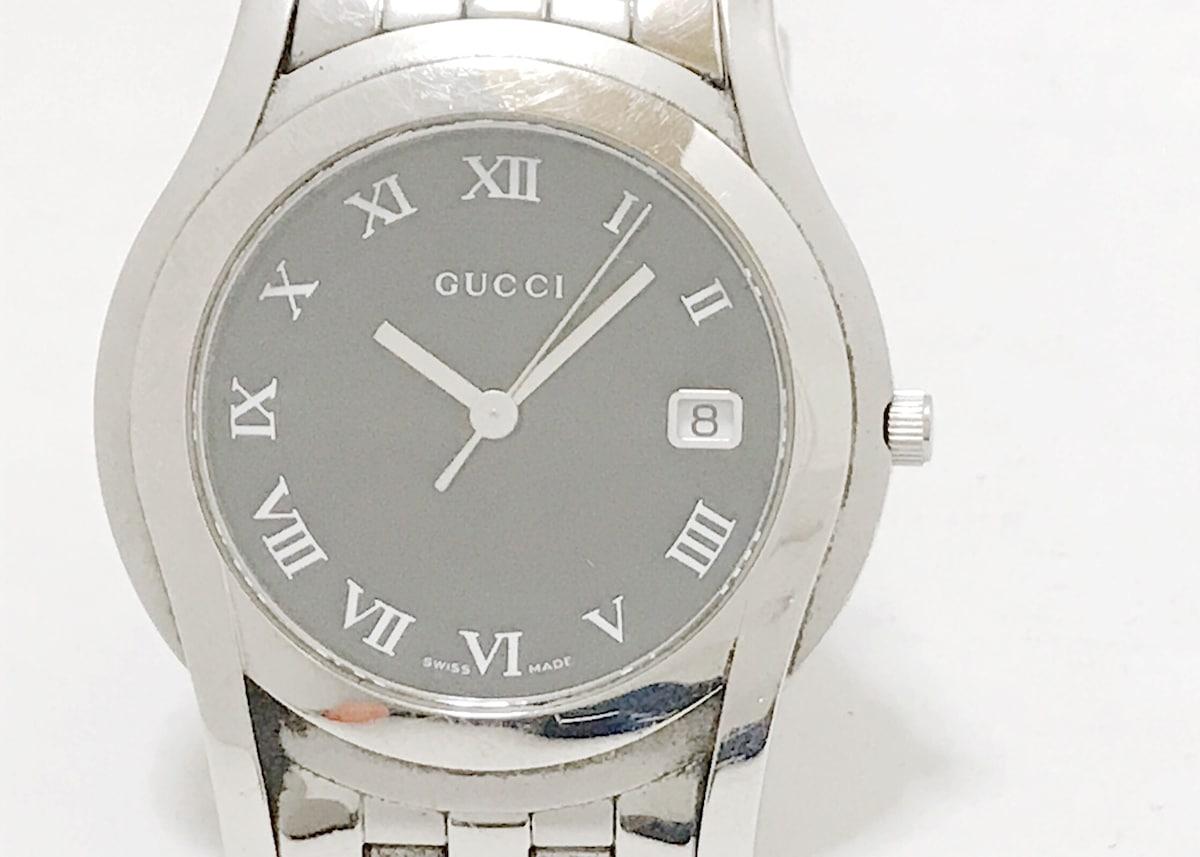 198cd534bc28 GUCCI(グッチ) 腕時計 5500M メンズ 黒(13057994)中古 ブランド通販 ...