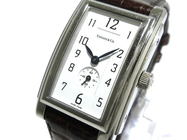 online store 7c197 91e7f ティファニー 腕時計 グランド 19291332 レディース 革ベルト 白