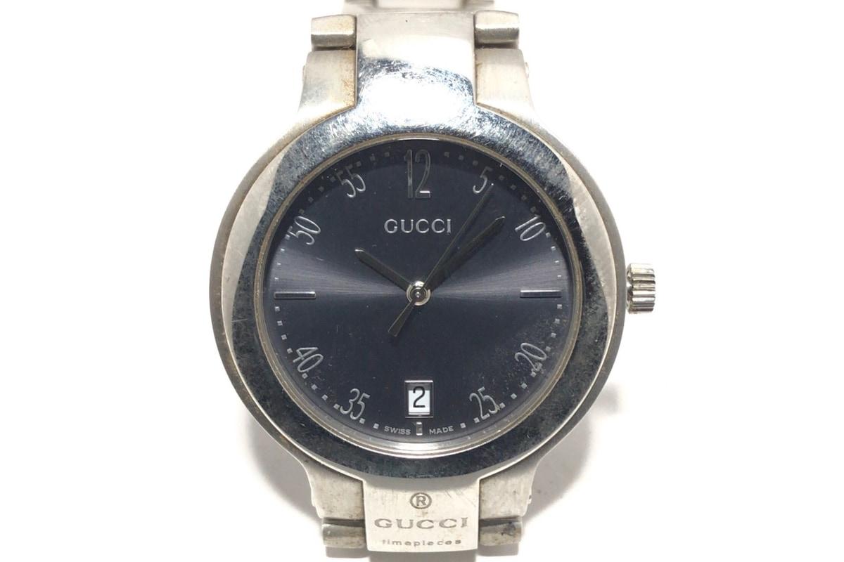 1286748e7937 GUCCI(グッチ) 腕時計 8900M メンズ 黒×シルバー(13058013)中古 ...