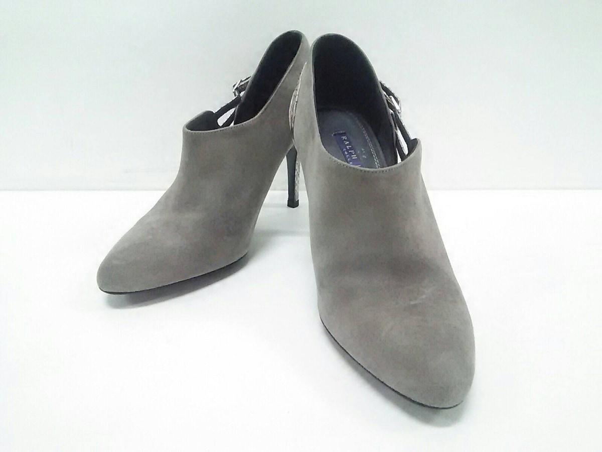 RalphLauren collection PURPLE LABEL(ラルフローレンコレクション パープルレーベル)のブーツ グレー×シルバー