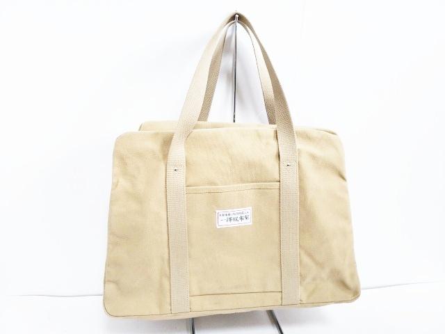 一澤帆布(イチザワハンプ)のハンドバッグ ベージュ