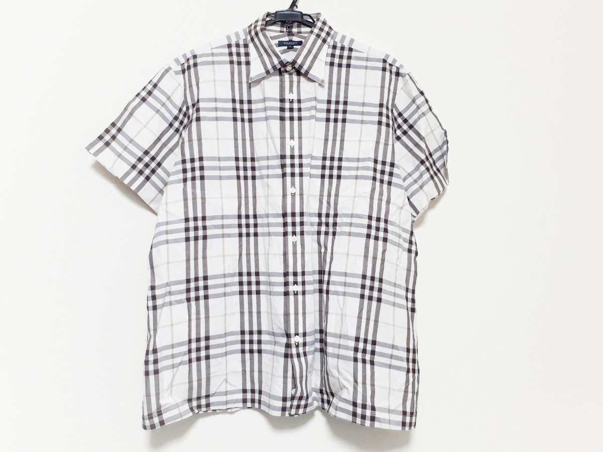 69f931af3429c0 バーバリーロンドン 半袖シャツ サイズ3L メンズ美品 チェック柄 ...