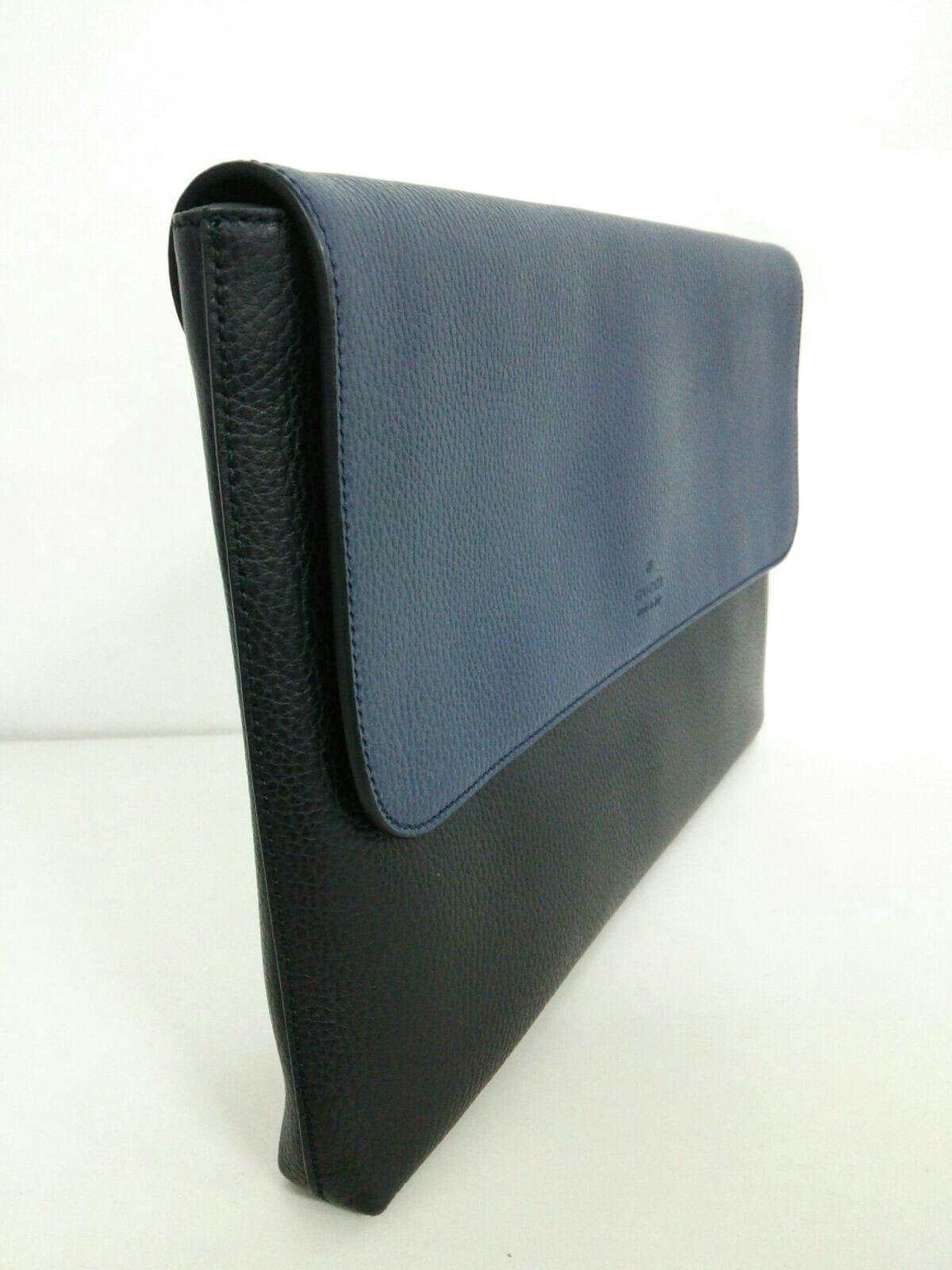 new product 4785e f8318 グッチ クラッチバッグ - 387082 黒×ネイビー ブリーフケース