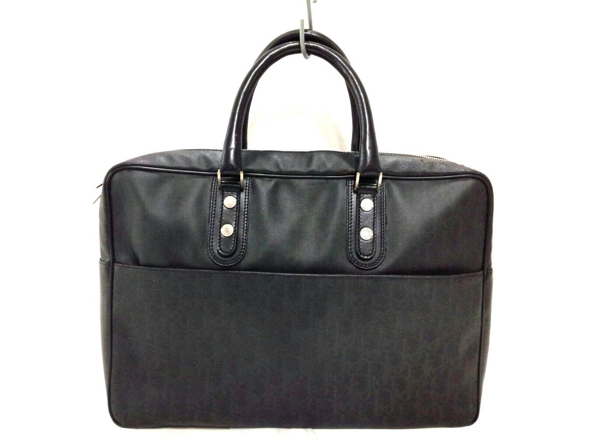 b256e5f0de01 ディオールオム ビジネスバッグ 黒 PVC(塩化ビニール)×レザー(12866367 ...