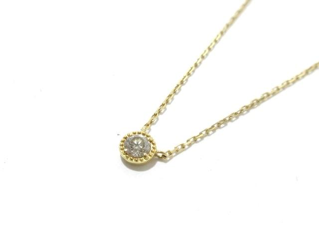 agete(アガット)のネックレス K18YG×ダイヤモンド