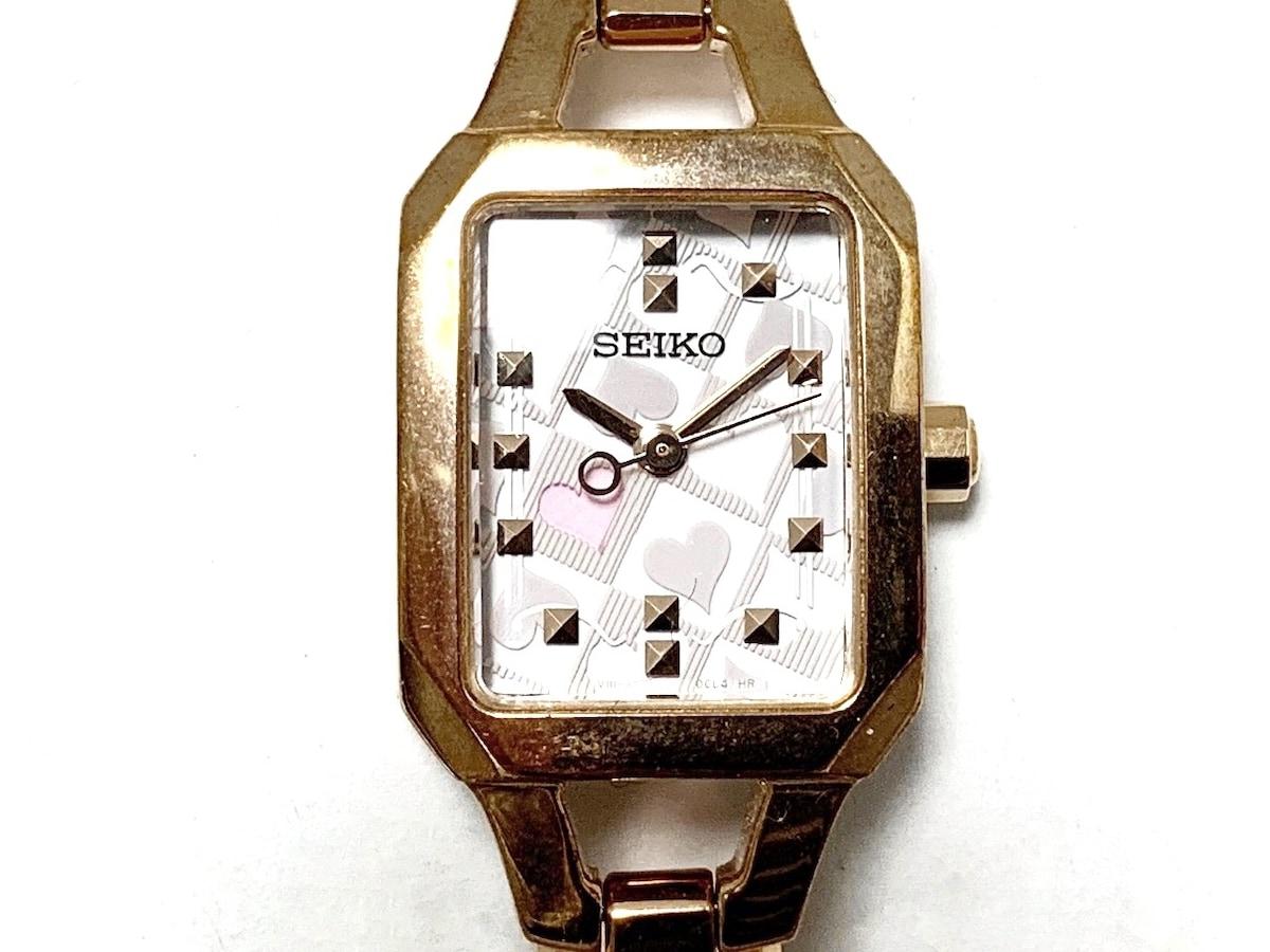 e061856d23 SEIKO(セイコー) 腕時計美品 ティセ V111-0BE0 レディース ハート ...