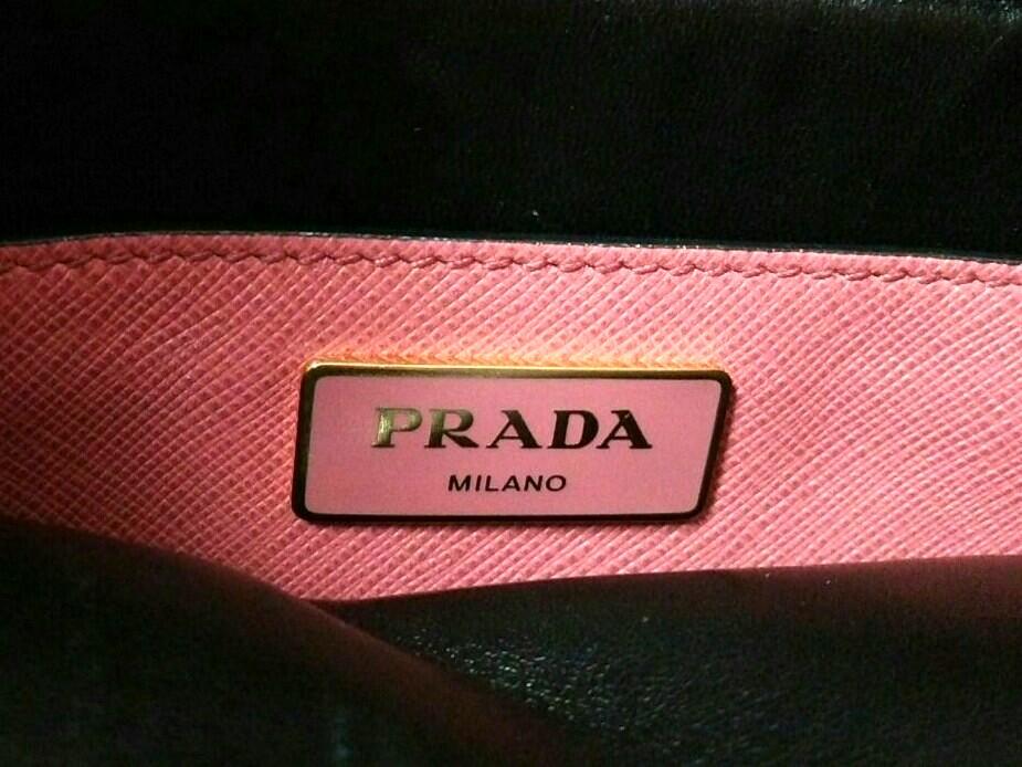 Auth PRADA BN2606 Pink Leather Safiano Soft Tote Bag