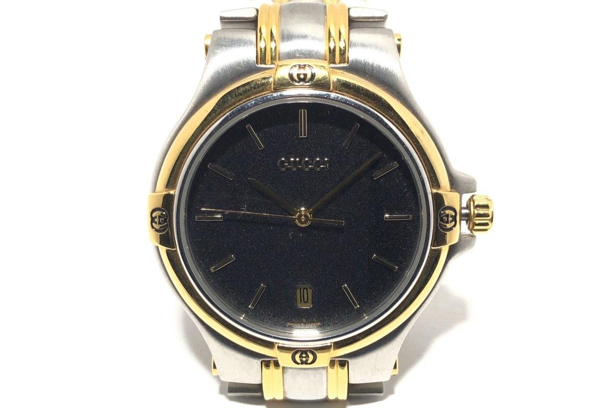 a31c66ab6cac GUCCI(グッチ) 腕時計 9040M メンズ 黒(13030119)中古 ブランド通販 ...