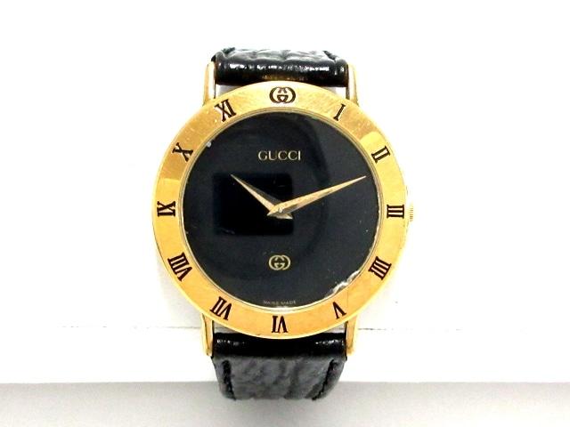 74e4264fc96b GUCCI(グッチ) 腕時計 3000M メンズ 黒(13042986)中古 ブランド通販 ...