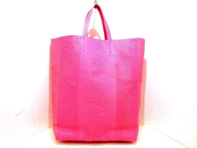 designer fashion 00c43 549d9 CELINE(セリーヌ) トートバッグ ホリゾンタルカバ ピンク パイソン