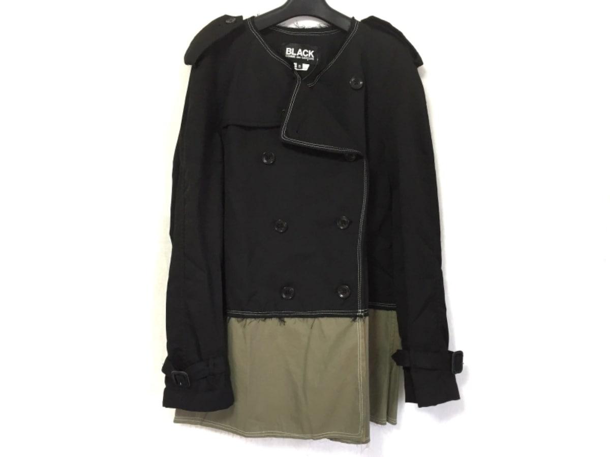 BLACK COMMEdesGARCONS(ブラックコムデギャルソン)のコート 黒×ダークグリーン