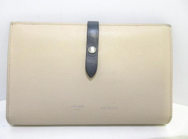 5494dc35ebf7 セリーヌ 財布 ストラップラージマルチファンクション ベージュ×黒 ...