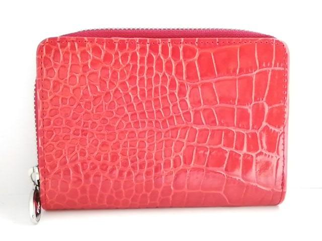 f76d2926cb66 FURLA(フルラ) 2つ折り財布美品 レッド 型押し加工 レザー(13018489 ...