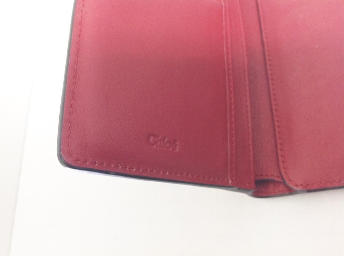 eff0d00f68f5 Chloe(クロエ) 3つ折り財布 アルファベット レッド レザー(13024129 ...