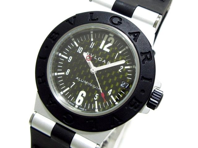 new style 8bfdc cb1e2 ブルガリ 腕時計 アルミニウム AL32TA ボーイズ ラバーベルト