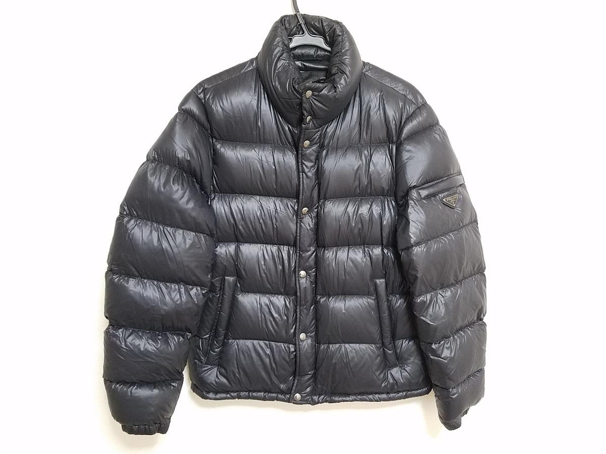 7021edb54be6 PRADA(プラダ) ダウンジャケット サイズ50 M メンズ 黒 冬物(13019392 ...
