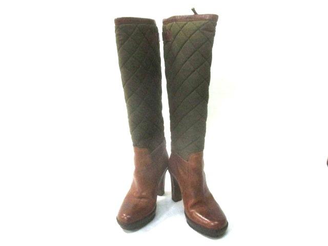 RalphLauren collection PURPLE LABEL(ラルフローレンコレクション パープルレーベル)のブーツ カーキ×ブラウン